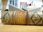 "Spine detail of the 1655 Amsterdam edition of Robert Johnston's ""Historia rerum Britannicarum""."