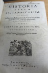"Title page of the 1655 Amsterdam edition of Robert Johnston's ""Historia rerum Britannicarum""."