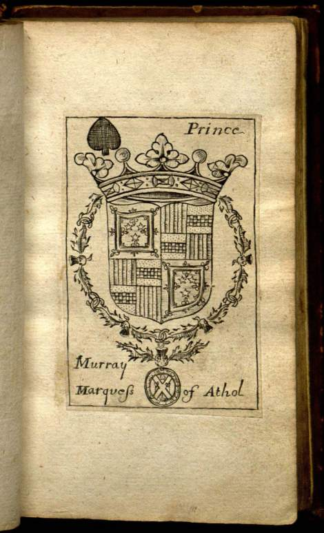 """The prince of spades card from """"Phylarcharum Scotorum gentilicia insignia"""", a set of 17th century heraldic playing cards from Edinburgh."""