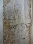 """Signature of Robert Wilkie, principal of St. Leonard's College 1589-1611, and date """"1604"""" on the front paste-down of Bib BS75.B11."""