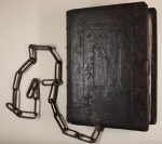 Front cover of the 1511 chained Bible that is believed to be the foundation Bible for St. Leonard's College.