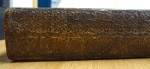 The smooth spine, rolled and decorated in gold, of TypBE.C11HP.