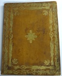Front cover of TypBE.D79XC, a collection of three of Robert Colvill's poems, bound by James Scott of Edinburgh, c. 1780.