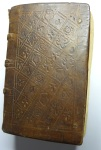 "Front cover of Franz Lambert's ""Exegeseos,"" printed by Nikolas Brylinger in Basel, 1539, and bound in St Andrews in the first half of the 16th century."
