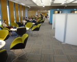 New study and lounge areas on floor 2 of the Main Library.