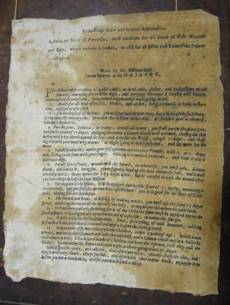 A 17th century broadside found laid-in to TypBL.B71WP.