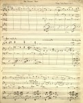 "The manuscript score for ""The Simmer Dim"" for flute, harp, violin and violincello, by Cedric Thorpe Davie, 1951. From the papers of Cedric Thorpe Davie (ms37754-37758)."