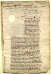 From Philip II of Spain, 1558, the first page of a contemporary transcript of a royal decree granting Don Francisco de Fonseca y Ageredo the right to enter into a certain legal agreement, in regards to his father's estate, with his mother and sisters (ms38791).