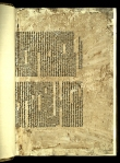 The fly-leaf for TypGA.A72ZG: the lower half of a 1472 broadside almanac printed in Augsburg.