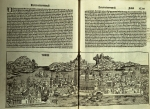 The two page spread of Venice from the second copy of the Nuremberg Chronicle (TypGN.A93KS2).