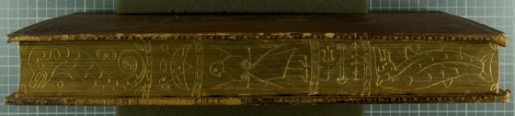 The gilt and gauffered fore-edge of the
