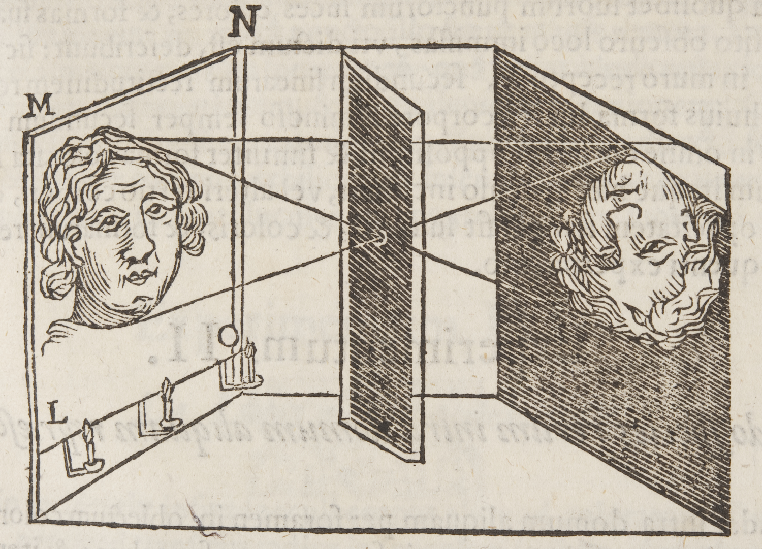 Who built the first camera obscura?