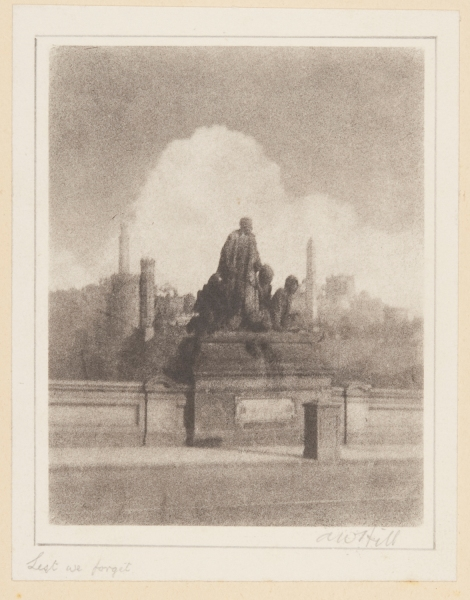 """Lest we forget"", bromoil transfer print, date unknown ca.1920s-30s, by Alexander Wilson Hill (1867-1949)"