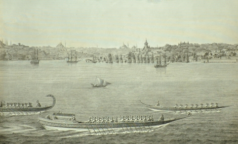 A view of Constantinople from the water, from