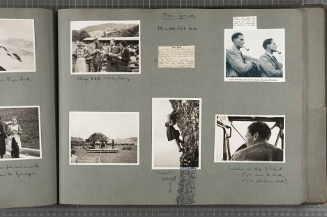 Page from the personal photographic album of Lord David Douglas-Hamilton, Oban Games 8th-10th of September 1936 (Digital surrogates generously donated by the family in 2010)