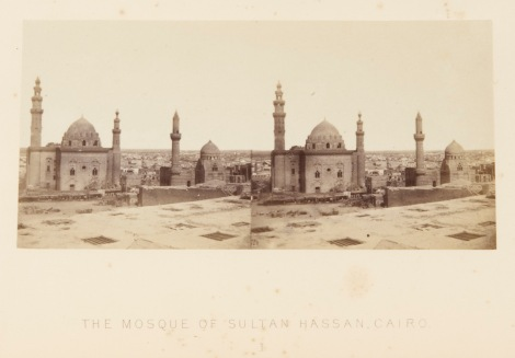 'The Mosque of Sultan Hassan, Cairo' ' from Francis Frith's Egypt, Nubia, and Ethiopia, illustrated by one hundred Stereoscopic photographs. London, 1862 (St Andrews copy at Photo DT47.F8)