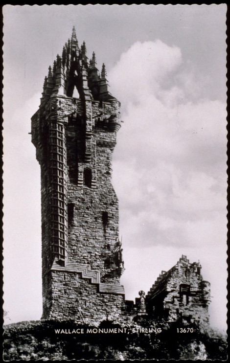 Wallace Monument, 1890. J. Valentine &. Co.Medium: Real Photo (Gelatin Silver Print). St Andrews copy at JV-13670-C