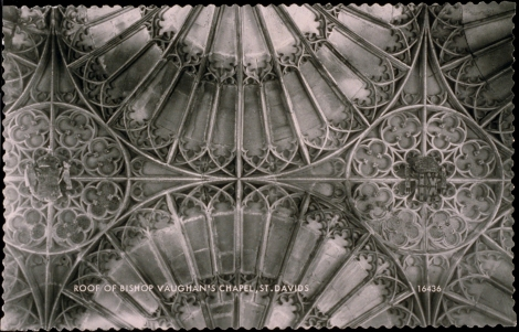 Roof, Bishop Vaughan's Chapel, 1892. J. Valentine & Co.Medium: Real Photo (Gelatin Silver Print). St Andrews copy at JV-16436-B