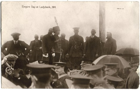 Empire day at Ladybank, 1914. J. Valentine & Co.Medium: Real Photo (Gelatin Silver Print). St Andrews copy at JV-78672
