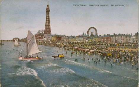 Central Promenade, Blackpool., 1919, J Valentine & Co. Medium: Valesque (Halftone Print) St Andrews JV-82245