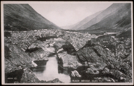 Black Bridge, Glen Tilt, 1888. J. Valentine & CoMedium: Bromotype (Gelatin Silver Print). St Andrews copy at JV-8235