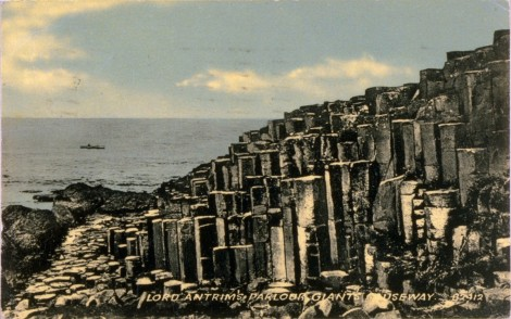 Giant's Causeway, 1919. J. Valentine &. CoMedium: Collo Blue (Collotype). St Andrews copy at JV-82912