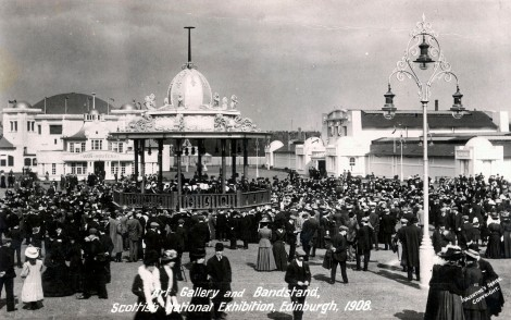 Scottish National Exhibition, Edinburgh, 1908. J. Valentine & Co. Medium: Real Photo (Gelatin Silver Print). St Andrews copy at JV-Exhib-ScoNat-Un-16