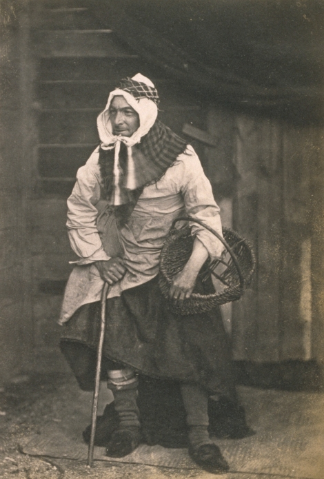 """Mr T. Rodger as Fishwoman"" (father of the photographer), by Thomas Rodger, 1860. (St Andrews ALB-6-99-2)"
