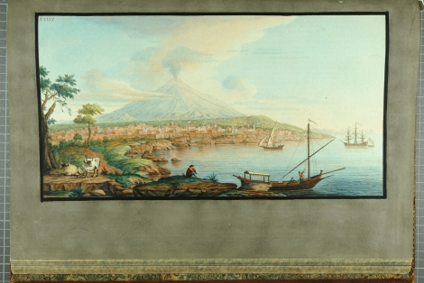 """A view of Mount Etna from Catania"" from William Hamilton's Campi Phlegraei (St Andrews rff QE523.V5H3 (SR))"