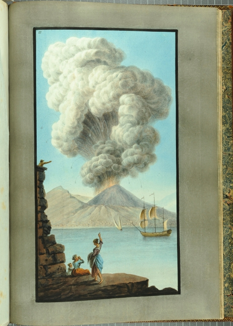 """View of the eruption of Mount Vesuvius Monday morning August the 9th 1779."" From William Hamilton's Campi Phlegraei (St Andrews rff QE523.V5H3 (SR))"