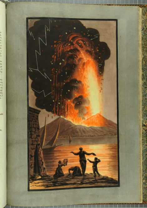 """View of the great eruption of Mount Vesuvius on Sunday night August the 8th 1779."" From William Hamilton's Campi Phlegraei (St Andrews rff QE523.V5H3 (SR))"