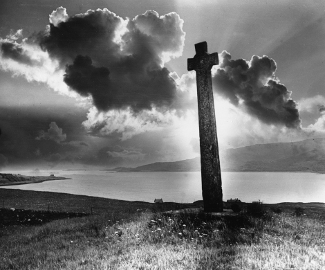 """Celtic cross, Sound of Mull"" a composite of the above by Robert Moyes Adam, 1919 (St Andrews RMA-H-750.X)"