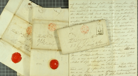 Correspondence relating to forged MD testimonial, 1815