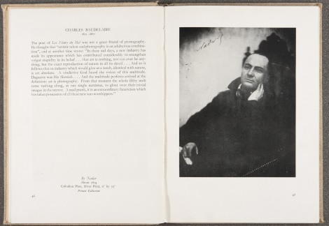 """Charles Baudelaire,"" by Nadar, ca. 1859, page 46-47"