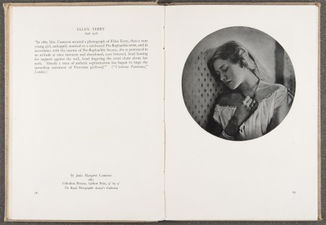 """Ellen Terry,"" by Julia Margaret Cameron, 1865, page 58-59"