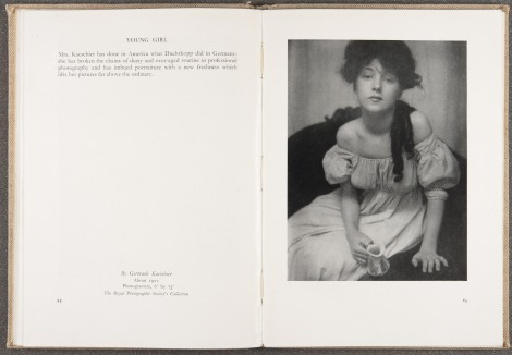 """Young Girl,"" by Gertrude Kaesebier, ca. 1901, page 88-89"