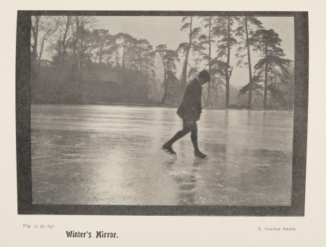 """Winter's Mirror,"" by A Gordon Smith, page 30 of issue 28 of The practical photographer (1904-1906). St Andrews copy at Photo TR1.P8"