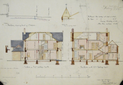 Gillespie and Scott's Villa at Rathelpie, St Andrews, 1891 (St Andrews ms37778b/15)