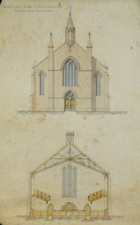 Gillespie and Scott's United Presbyterian Church, Buckhaven, Fife, 1867-68 (St Andrews ms37778b/288)