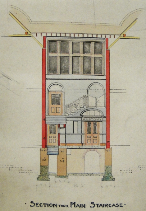 Gillespie and Scott's alterations to the Bute Medical School, University of St Andrews, 1897-98 (St Andrews ms37778b/34)