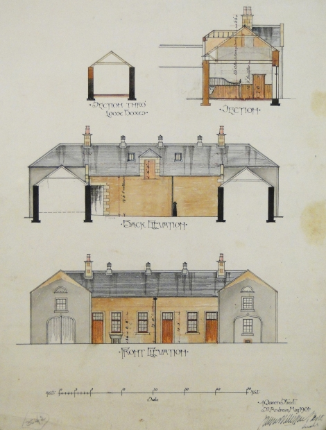 Lindores Stable Office, Abdie, Fife, 1901