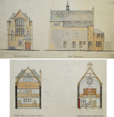 Reconstruction of Baptist Church, St Andrews, 1901