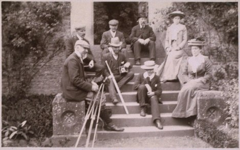 'Group including Steggall family,' by Prof J.E.A. Steggall, 1900 (St Andrews JEAS-26-53)