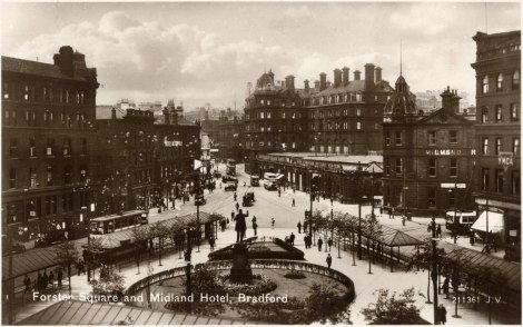 'Forster Square, Bradford,' by J Valentine & Co, 1930 (St Andrews JV-211361)