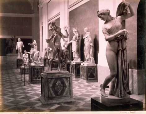 'Napoli Museo, Sala dei Marmi [Naples Museum, Salon of Marble]' by G. Sommer, 1880 (St Andrews ms-29951-10.35)