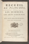 Title page for the volumes of plates from Encyclopédie (St Andrews copy at =sf AE25.D5)