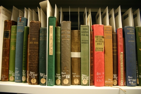 Just some of the books which Beveridge owned on beekeeping.