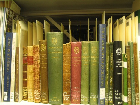 A selection of books, old and new, about St Andrews.