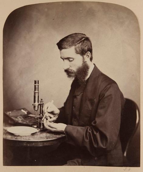 Dr W.C. McIntosh, in a photograph by John Adamson, 1865. ALG-5-42.