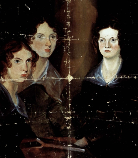 Portrait of the Bronte sisters by Branwell Bronte, from The Art of the Brontes]